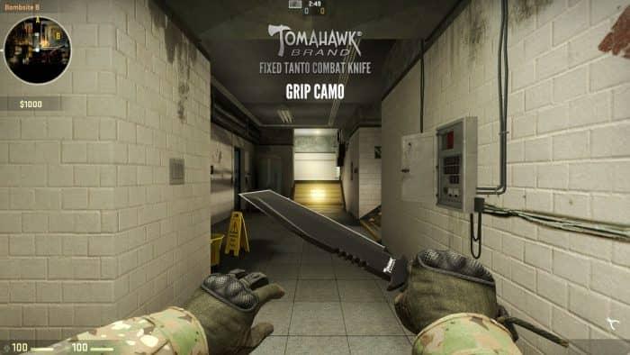 combat knife tomahawk brand fixed tanto 1