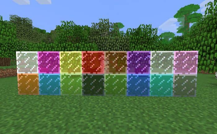 Способ создания цветного стекла в minecraft
