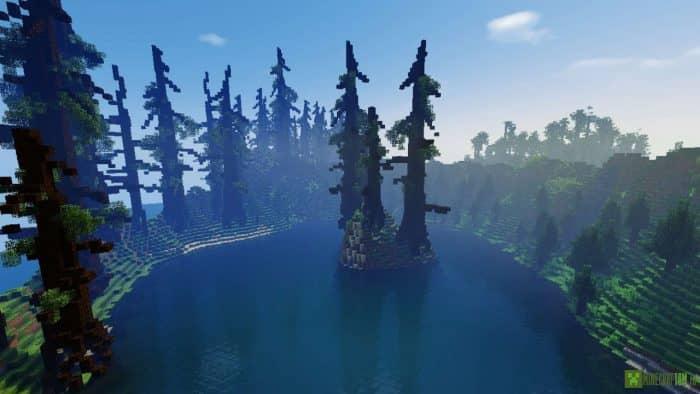 Темный лес в minecraft