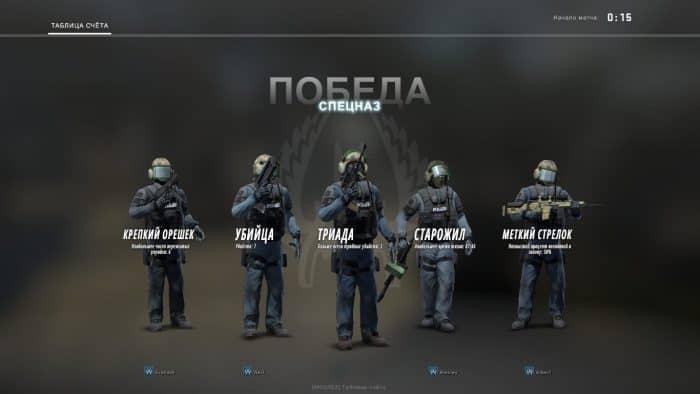Команда спецназа в КС ГО